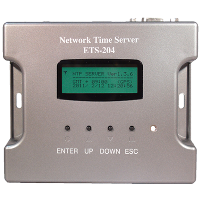 ETS-204(V2)  小型・高性能電波時計・GPS方式NTPタイムサーバー