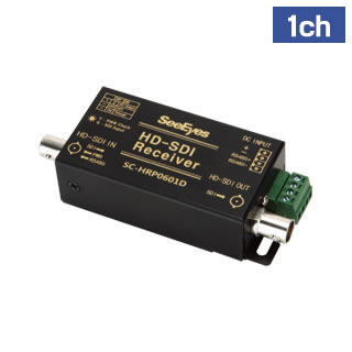 HD-SDI 1ch 電源供給用受信機(制御付)