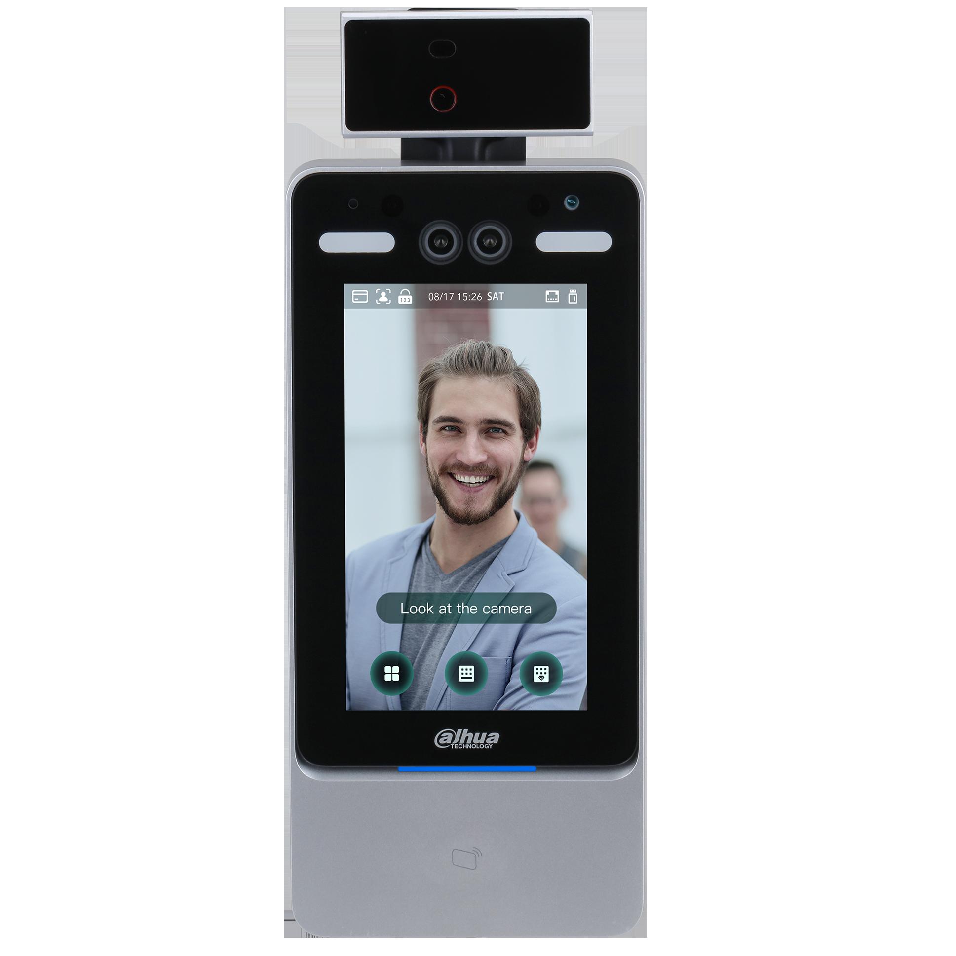 発熱検知付き顔認証端末