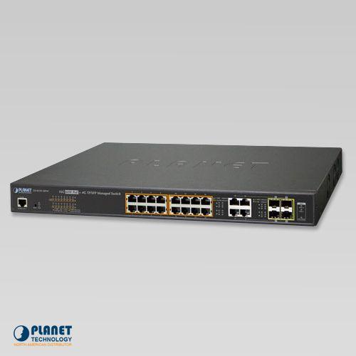 16ポートPoE+L2管理スイッチ